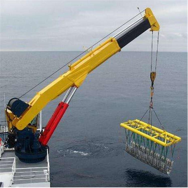 我公司船用液压吊机使用现场